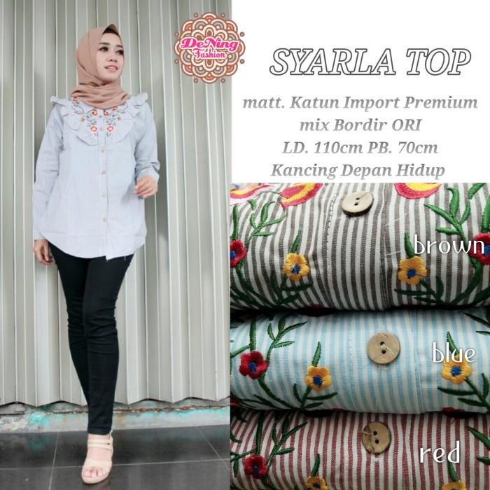 Baju Atasan Wanita Baju Muslim Blouse SYARLA TOP