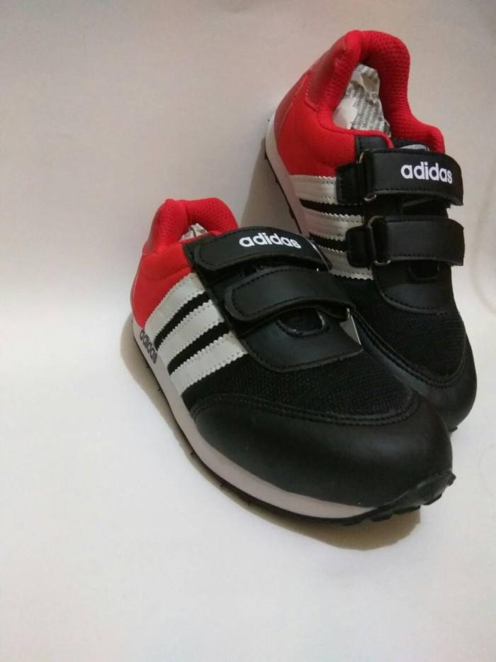 cce86b9c1 Sepatu anak kets adidas 3warna aa1 strep (merah hitam putih) ...