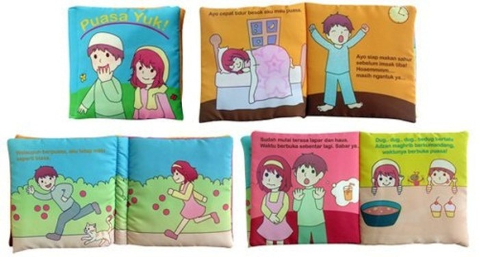Buku bantal kain washable educative softbook