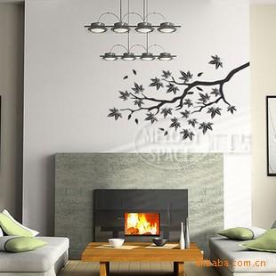 jual wallsticker jm7005 wall sticker - sticker dinding dahan hitam