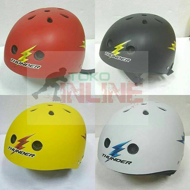 harga Helm thunder untuk sepatu roda inline skate skateboard sepeda Tokopedia.com