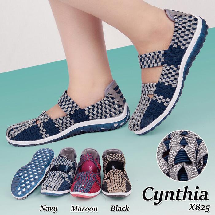 harga Sepatu flat rajut anyaman anyam cynthia type x825 Tokopedia.com