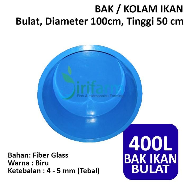 harga Bak / kolam ikan bulat d:100cm t:50cm 400 lt fiber tebal berkualitas Tokopedia.com