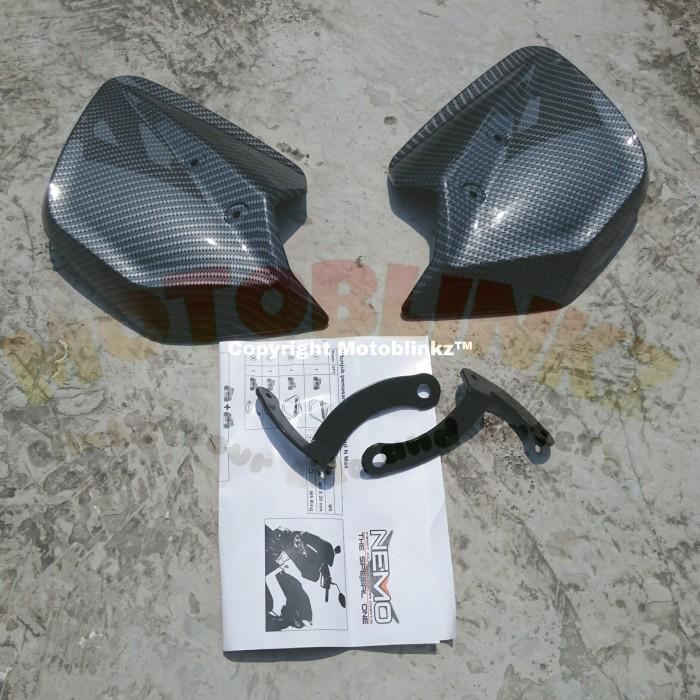 NEMO Handguard / Pelindung Stang Yamaha NMAX Carbon (Printing)