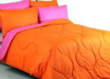 Bedcover Set Jaxine Polos Katun Prada Pink Orange 180x200x20 Limite