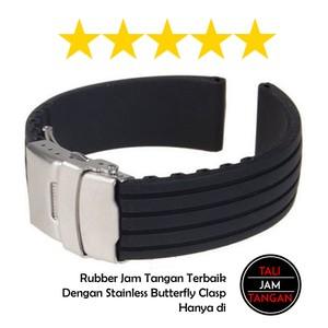 Jual Tali Jam Tangan Karet / Rubber Dengan Buckle Butterfly Paling ...