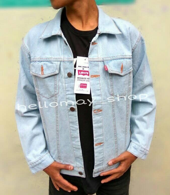 Jaket Jeans Reguler Biru Muda Pudar - Daftar Harga Terkini dan ... 9d4a790671