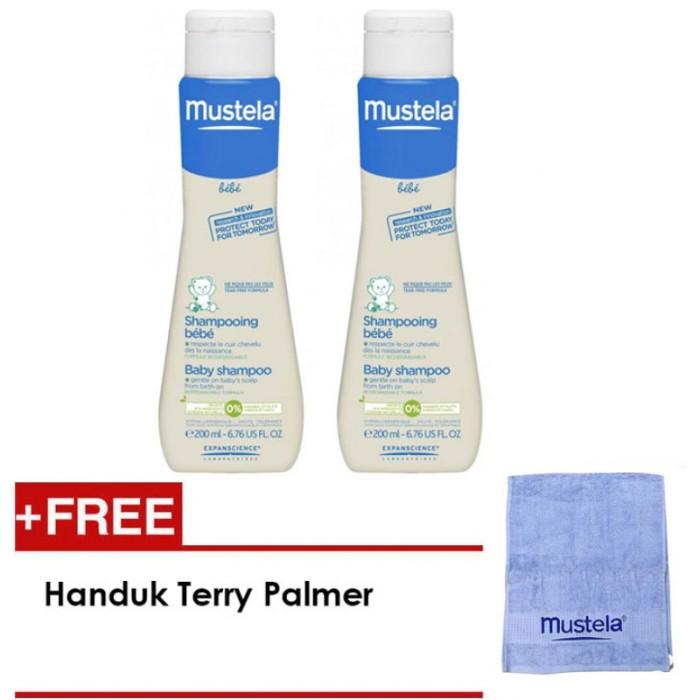 harga Free handuk mustela hydra bebe baby shampoo/shampo bayi mustela 200ml Tokopedia.com