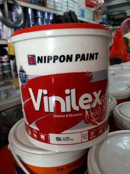 harga Cat tembok vinilex nippon paint 5 kg khusus warna putih dan cream Tokopedia.com