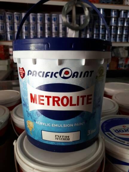 harga Cat tembok metrolite 5 kg (putih) Tokopedia.com