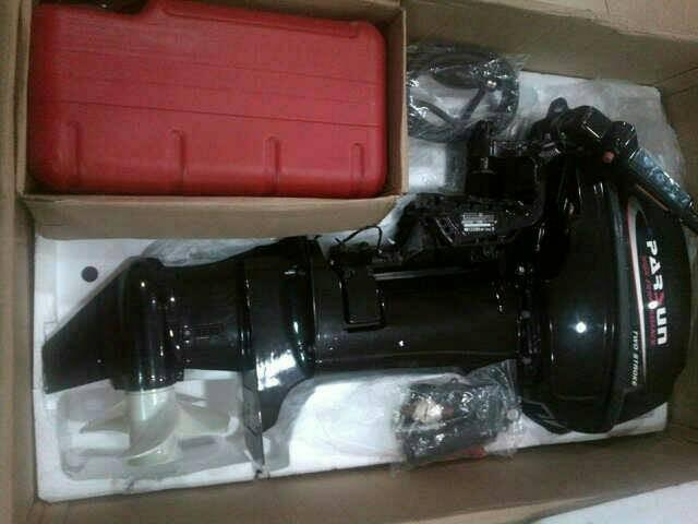 Foto Produk outboard motor Mesin tempel 15 HP bensin capur merk Parsun dari dunia selam