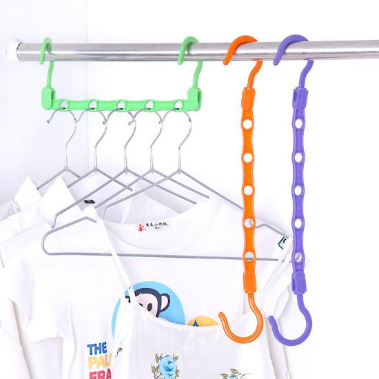 Wonder Hanger Magic gantungan baju lemari pakaian Laundry BIRU