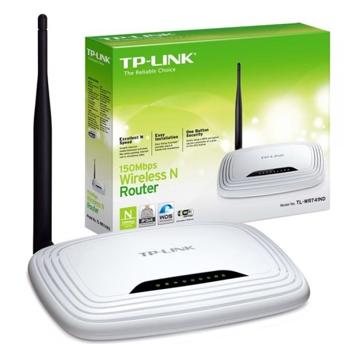 Foto Produk ORIGINAL TP-LINK Wireless N Router 150Mbps - TL-WR740N dari PLAZA TOPED