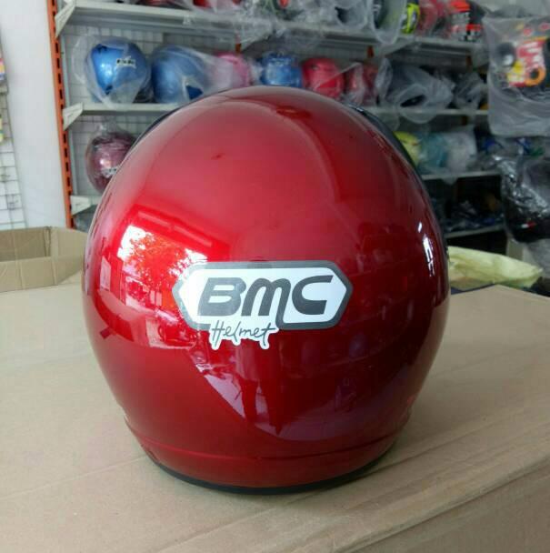 Helm bmc touring red Maron 1