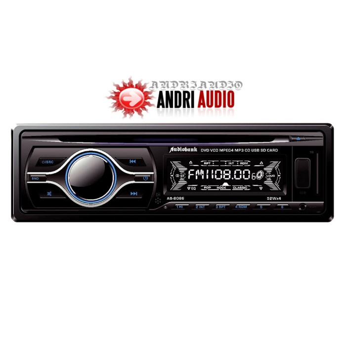 Single din audiobank dvd player / tape mobil