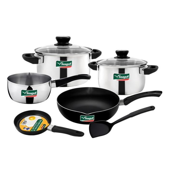 harga Seagull cookware set be delight set - 8pcs / panci Tokopedia.com