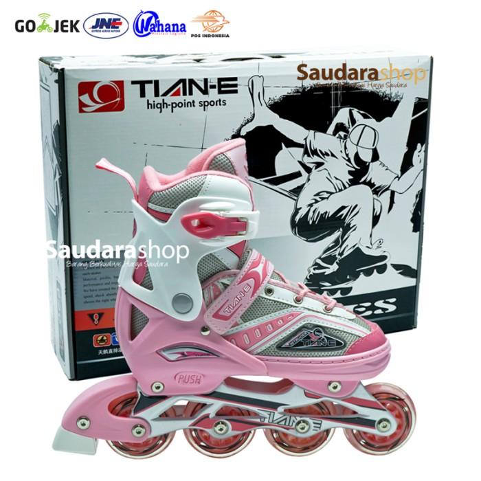 Jual Tian-E Sepatu roda Inline Skate Roda Karet BIRU   SepatuRoda ... 809f81d742