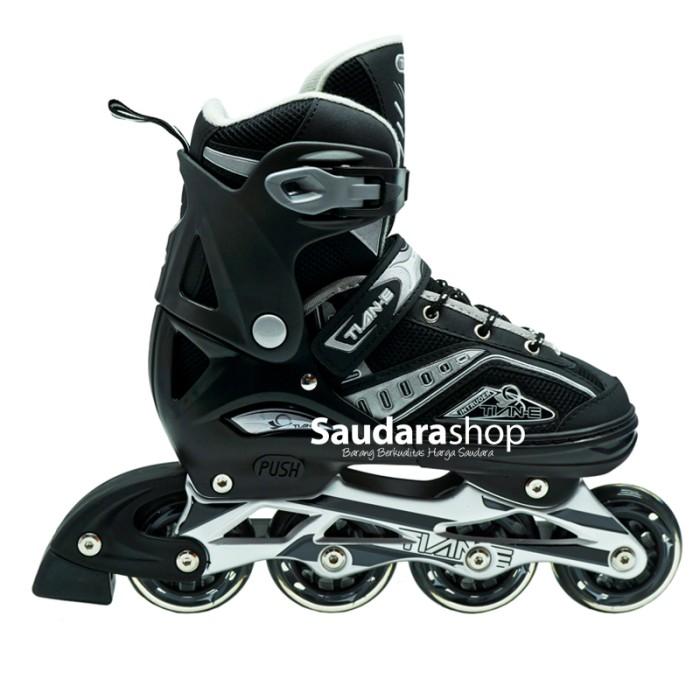 Jual Tian-E Sepatu roda Inline Skate Roda Karet Hitam   SepatuRoda ... 6fb7c08278