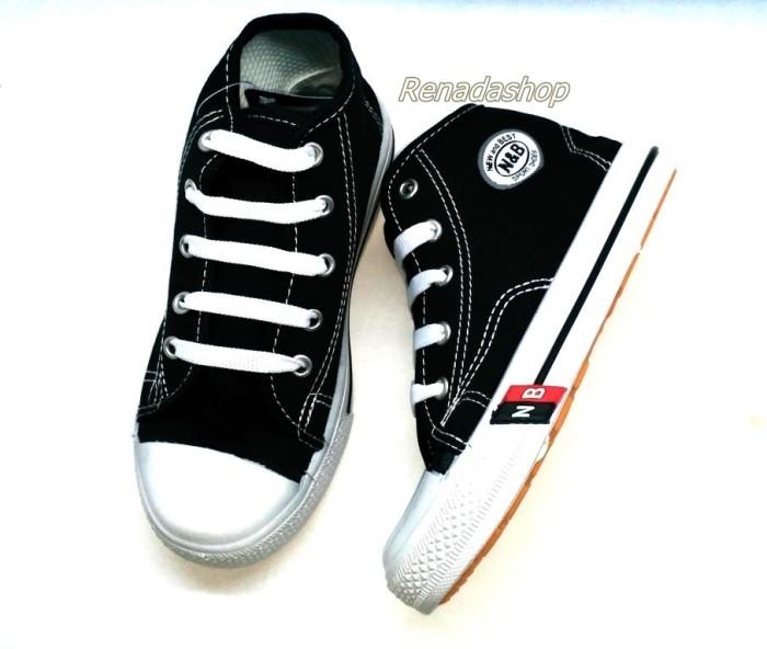 Jual Sepatu Sekolah Anak NB Tali Tinggi Boot Hitam Murah Awet Bagus ... 7a6cc21ba5