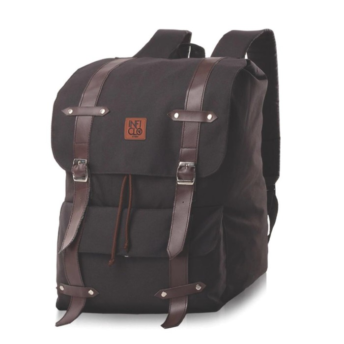 Tas ransel / backpack / laptop pria wanita coklat inficlo scp 171 ori