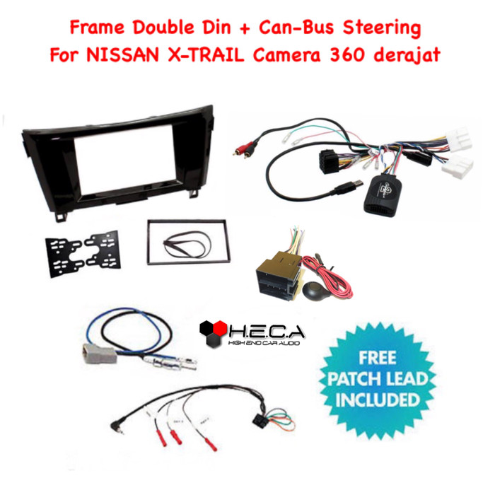 harga Frame double din + can bus canbus remot steeri x-trail 2014 camera 360 Tokopedia.com
