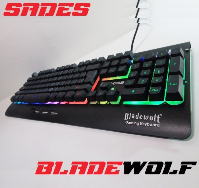 SADES BLadeWolf Sound Sensor - LED Gaming Keyboard