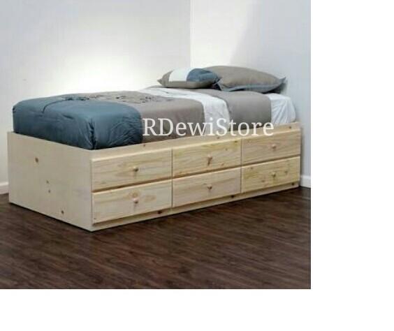harga Tempat tidur, divan, dipan, ranjang, minimalis kayu jati laci 6 Tokopedia.com