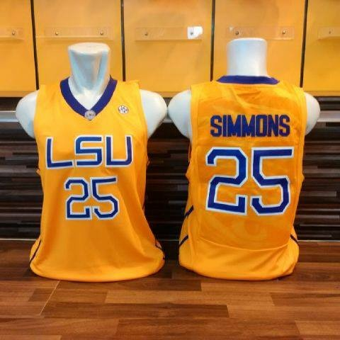31d9efb28640 Jual Jersey Basket Classic LSU Louisiana State Ben Simmons Kuning ...