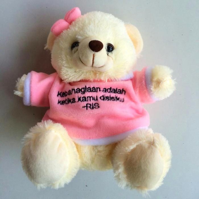 harga Boneka teddy bear custom warna baju|custom nama|tambah tulisan Tokopedia.com