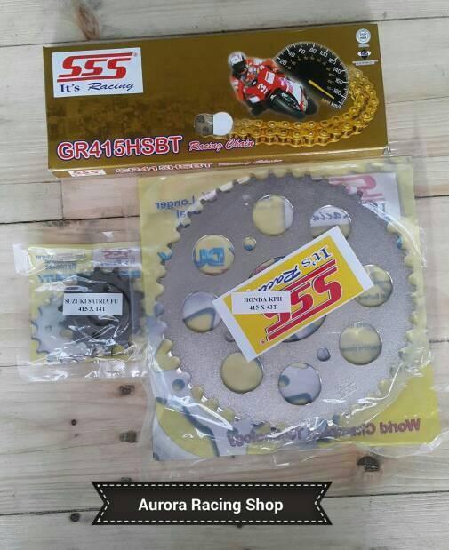 harga Gear set sss 415 satria fu 150 face lift & rantai sss  hsbt Tokopedia.com