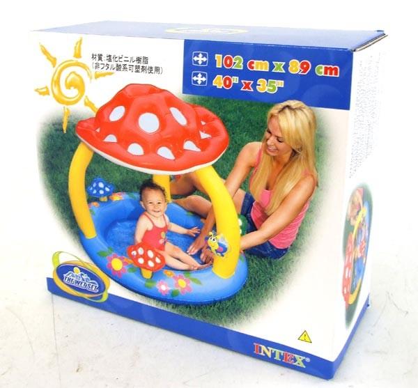 Intex 57407 - kolam renang mushroom baby pool 102cm x 89cm