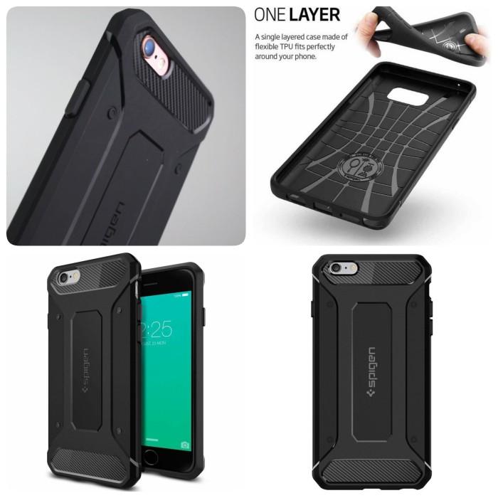 buy popular 6afe4 0ae61 Jual SA Case Spigen Rugged Capsule iPhone 5 5s 5g 5SE 6S 6G 6 7 Plus Casing  - Jakarta Barat - Modo   Tokopedia