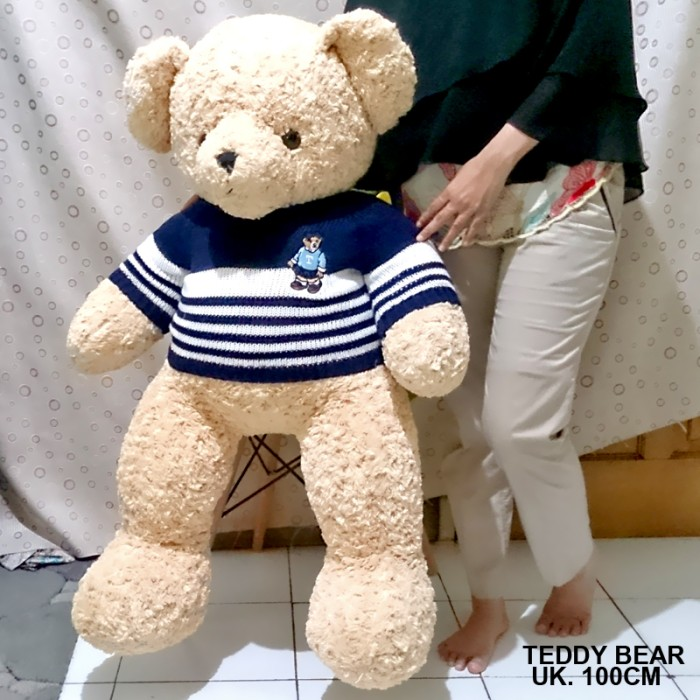 Boneka Teddy Bear Sweater Teddy House Impor Jumbo besar big giant 1m S 96d9d7acad