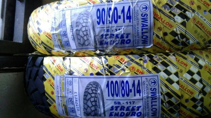 harga Paket ban luar swallow tubeless 100/80-14 & 90/90-14 sb117 (2) Tokopedia.com