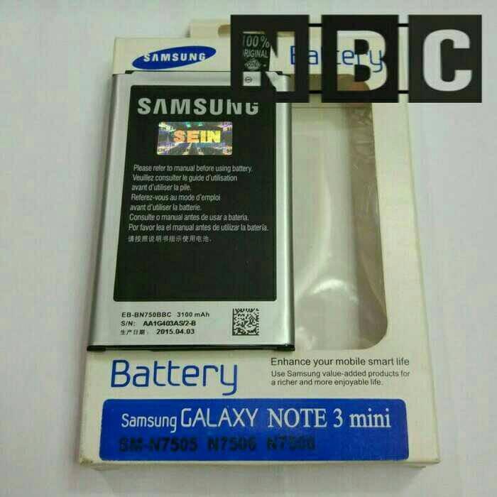 harga Battery samsung galaxy note3 mini note 3 neo original Tokopedia.com