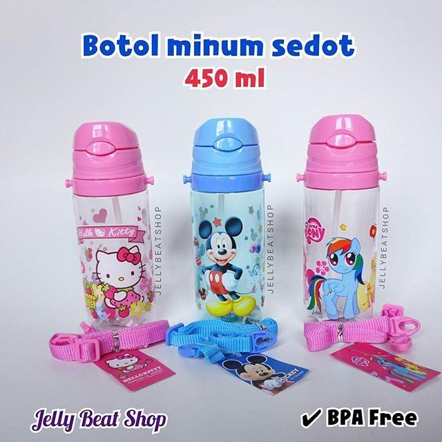Botol minum sedot anak karakter 500 ml bpa free bawah