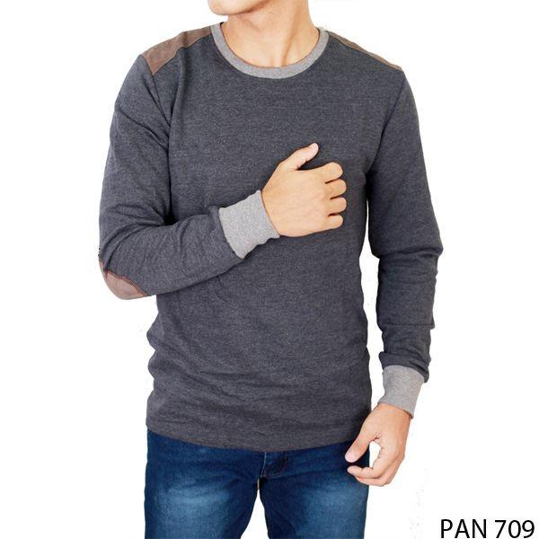 Kaos lengan panjang laki-laki terry navy pan 709