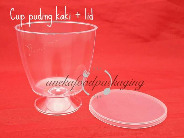 harga Cup puding/gelas puding kaki + lid Tokopedia.com