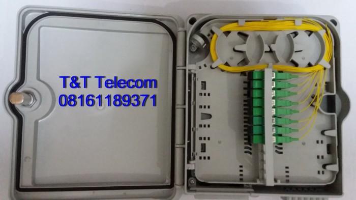 Odp tiang / wall 8 core lengkap pigtail sc/apc