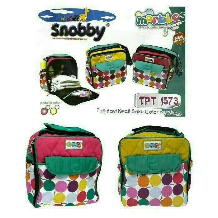 Tas Bayi - diaper bag kecil polkadot - Tas Snobby Baby marbles series