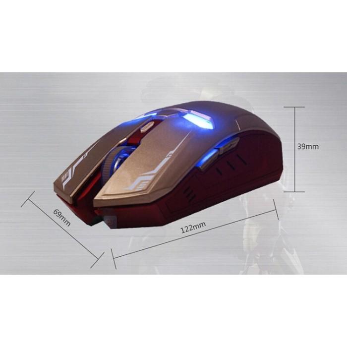 Foto Produk WEYES Iron Man Wireless Mouse Gaming Mute Button Silent Berkualitas dari YELLOW STYLE