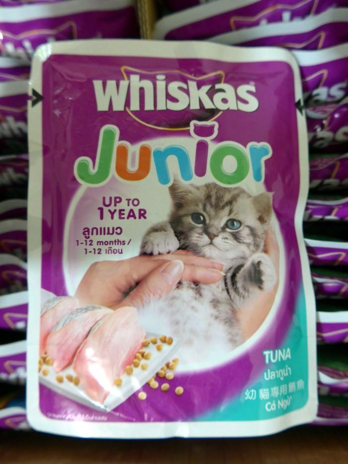 Jual Makanan Kucing Whiskas Junior Pouch Tuna 85 Gram Jakarta