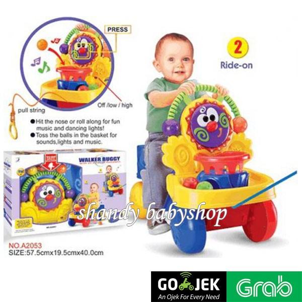 harga Gojek/grab - Baby Walker/ Ride On/ Push Walker/ Walker Buggy 2 In 1 Tokopedia.com