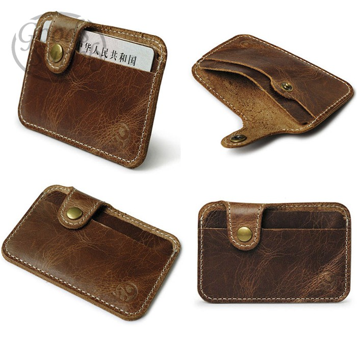 harga Money slim credit card id card holder leather purse wallet Tokopedia.com