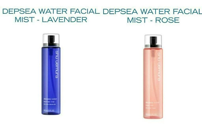 Jual SHU UEMURA DEPSEA WATER FACIAL MIST Lavender - Rumah Natural | Tokopedia