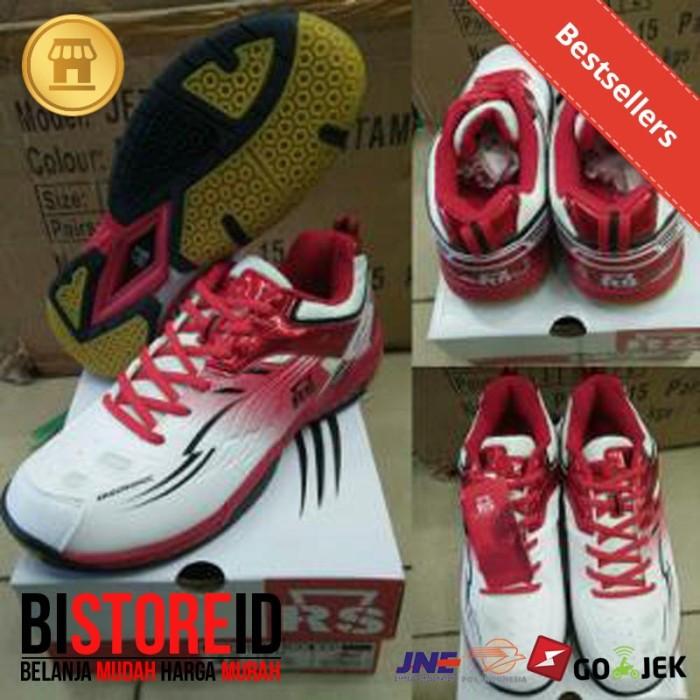harga Sepatu badminton bulutangkis rs jf superliga 800 putih-merah original Tokopedia.com
