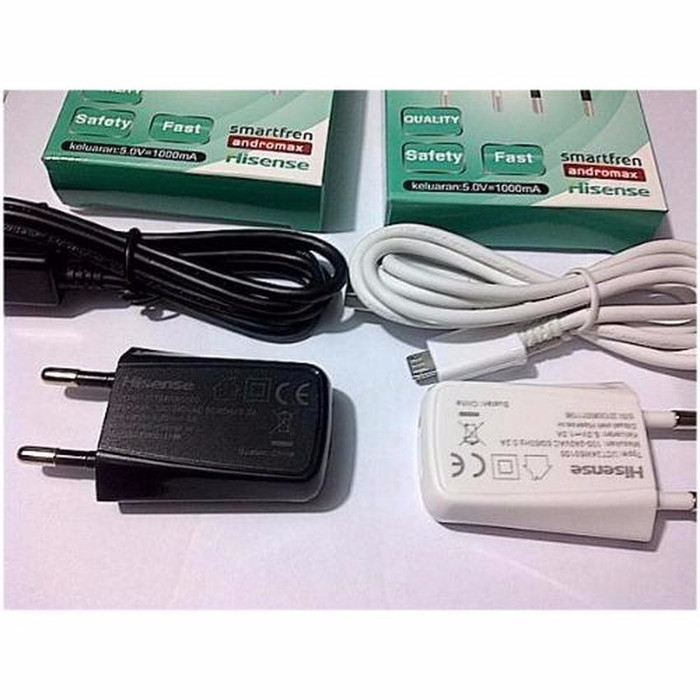 Smartfren Andromax Usb Travel Charger + Cable Data Micro - Putih