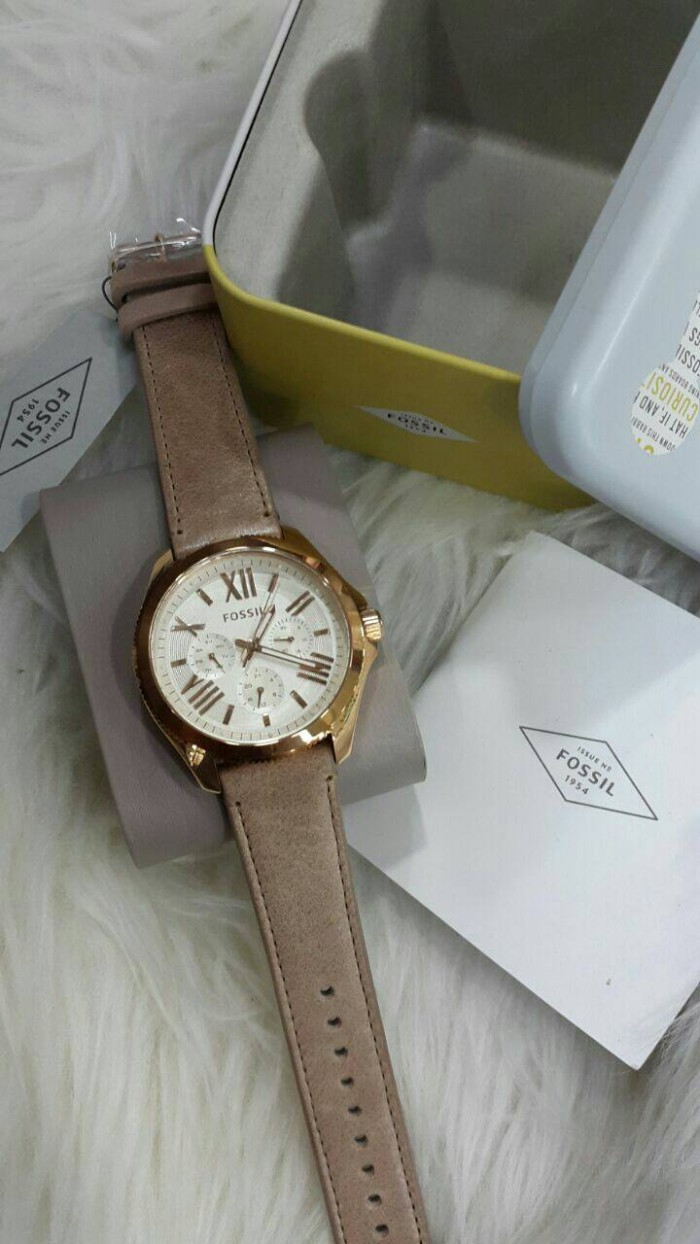 Harga Jual Jam Tangan Fossil Wanita Terbaru 2017 Chronograph Original Es4222 Modern Pursuit Chrono White Am 4532 Leather Kulit Murah