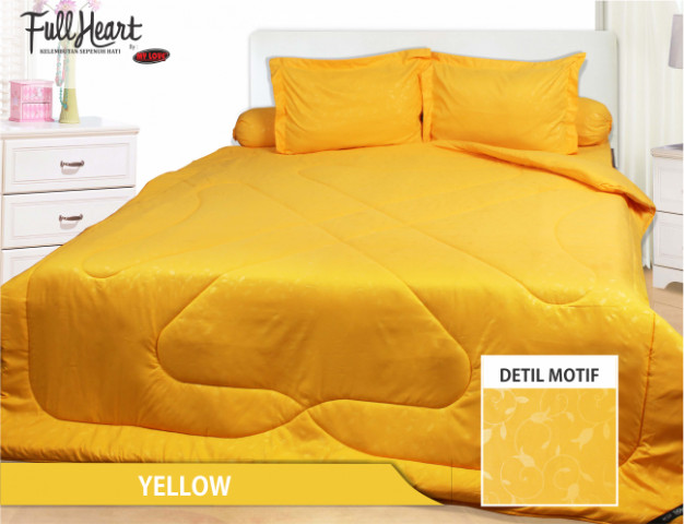 Sprei my love polos full heart yellow uk. 180 x 200 tinggi 30 cm