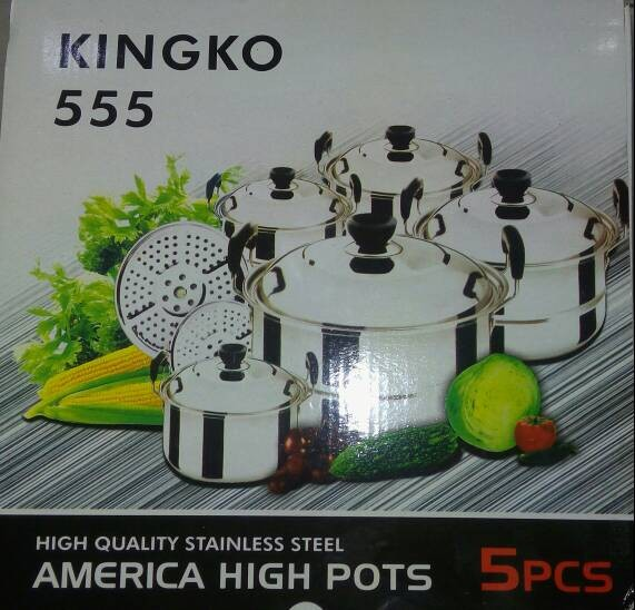 Panci set kingko 555 isi 5 pcs plus steamer ...